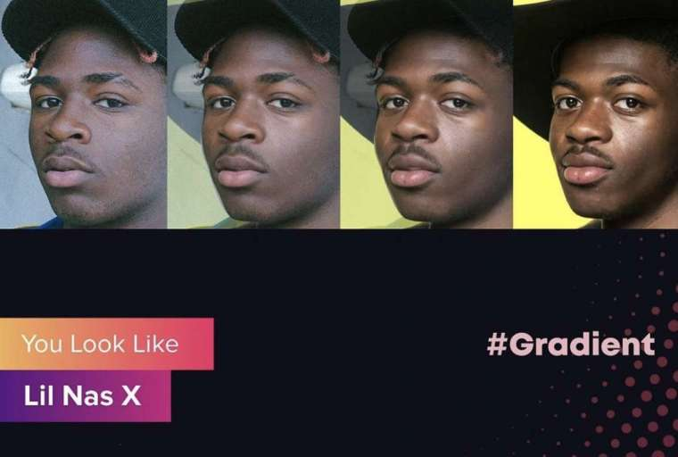you look like app gradient
